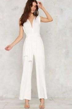 80 Simple and Glam Jumpsuit Wedding Dresses Ideas 19