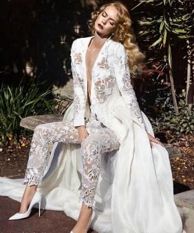 80 Simple and Glam Jumpsuit Wedding Dresses Ideas 24