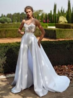 80 Simple and Glam Jumpsuit Wedding Dresses Ideas 26