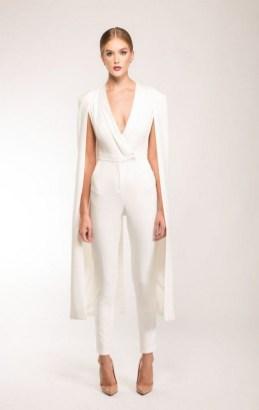 80 Simple and Glam Jumpsuit Wedding Dresses Ideas 27