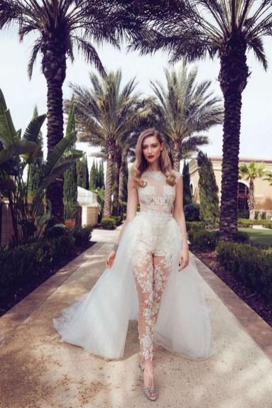 80 Simple and Glam Jumpsuit Wedding Dresses Ideas 3