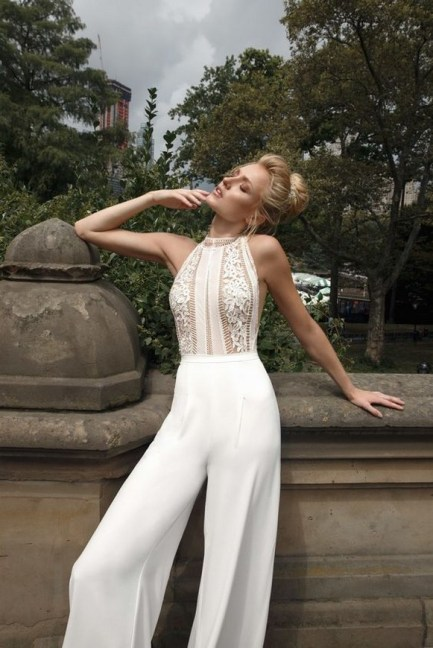 80 Simple and Glam Jumpsuit Wedding Dresses Ideas 33