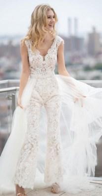 80 Simple and Glam Jumpsuit Wedding Dresses Ideas 34