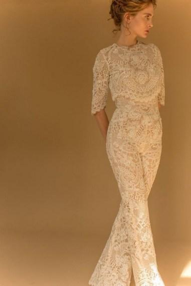80 Simple and Glam Jumpsuit Wedding Dresses Ideas 4