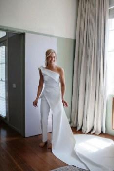 80 Simple and Glam Jumpsuit Wedding Dresses Ideas 40