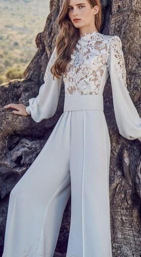 80 Simple and Glam Jumpsuit Wedding Dresses Ideas 41