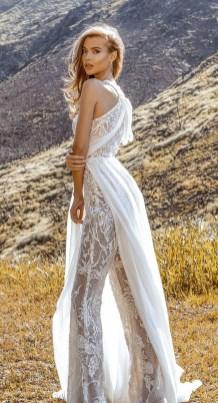 80 Simple and Glam Jumpsuit Wedding Dresses Ideas 45