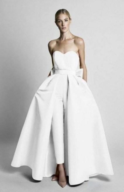 80 Simple and Glam Jumpsuit Wedding Dresses Ideas 46