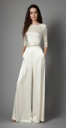 80 Simple and Glam Jumpsuit Wedding Dresses Ideas 5