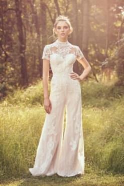 80 Simple and Glam Jumpsuit Wedding Dresses Ideas 52