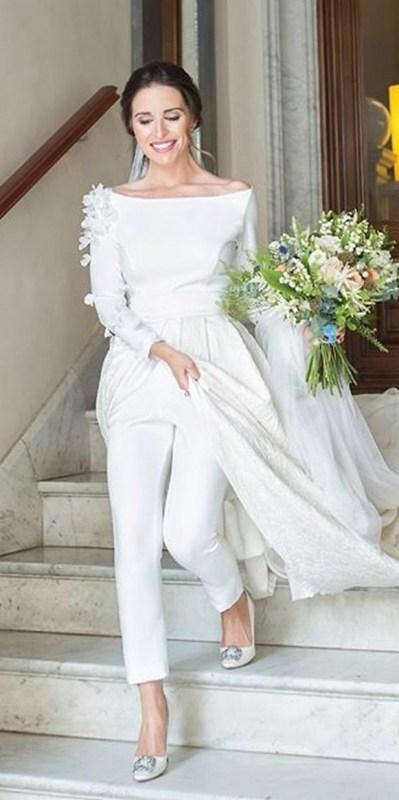 80 Simple and Glam Jumpsuit Wedding Dresses Ideas 53
