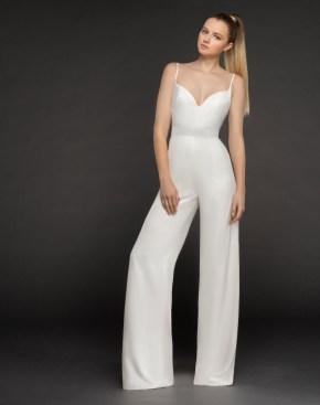 80 Simple and Glam Jumpsuit Wedding Dresses Ideas 73