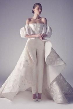 80 Simple and Glam Jumpsuit Wedding Dresses Ideas 80