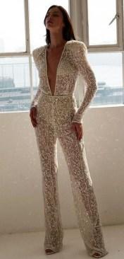 80 Simple and Glam Jumpsuit Wedding Dresses Ideas 81