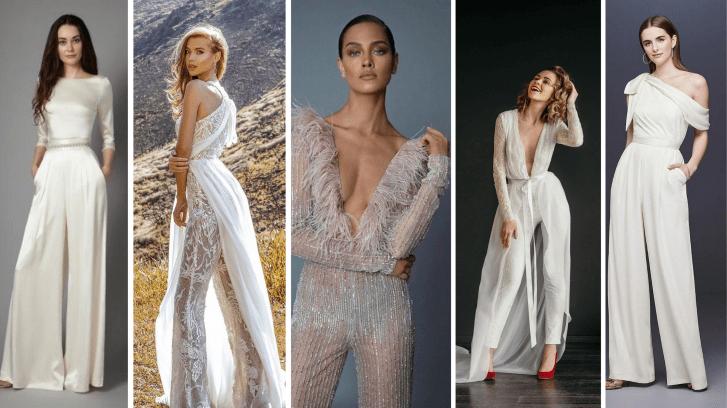 Simple and Glam Jumpsuit Wedding Dresses Ideas