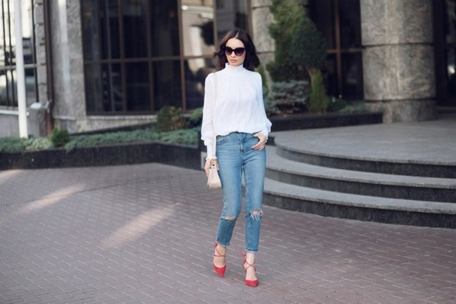 50 Modern Look Jeans and Red Shoes Outfit Ideas 47