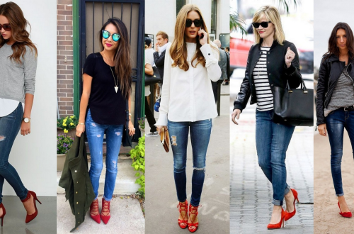 50 Modern Look Jeans and Red Shoes Outfit Ideas