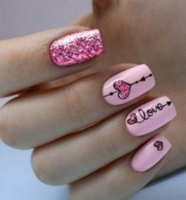 50 Nail Art Ideas for Valentines Day You Need to See 09