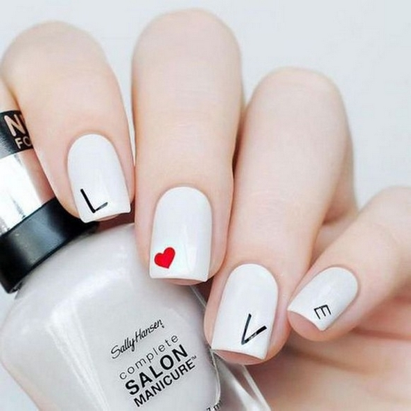 50 Nail Art Ideas for Valentines Day You Need to See 10