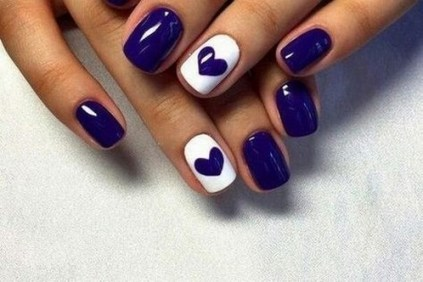 50 Nail Art Ideas for Valentines Day You Need to See 11