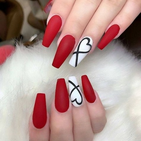 50 Nail Art Ideas for Valentines Day You Need to See 15