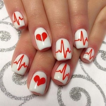 50 Nail Art Ideas for Valentines Day You Need to See 48