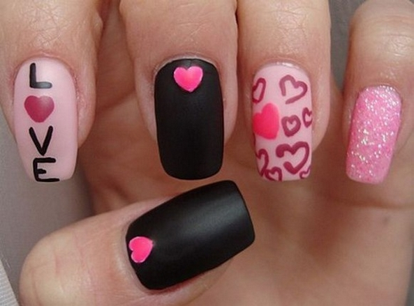 50 Nail Art Ideas for Valentines Day You Need to See 59