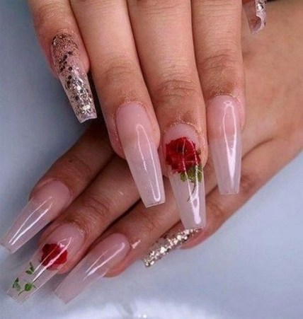 50 Nail Art Ideas for Valentines Day You Need to See 60