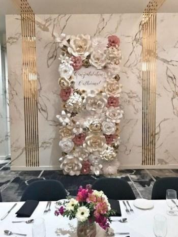 50 Stunning Paper Flower Decoration for Wedding Ideas 06