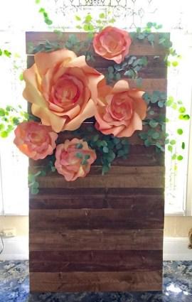 50 Stunning Paper Flower Decoration for Wedding Ideas 13