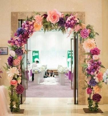 50 Stunning Paper Flower Decoration for Wedding Ideas 30
