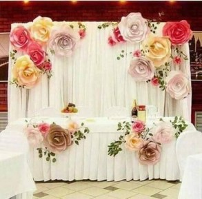 50 Stunning Paper Flower Decoration for Wedding Ideas 34