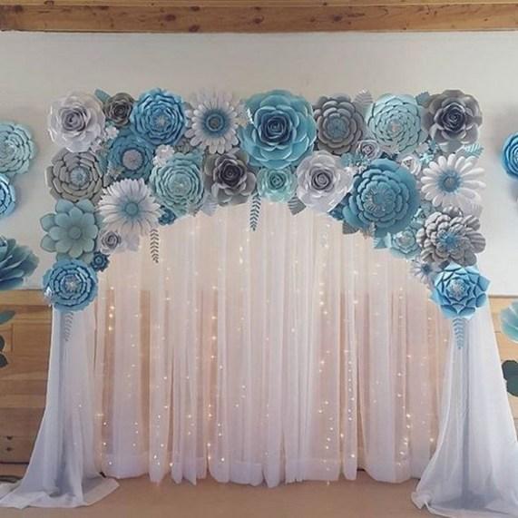 50 Stunning Paper Flower Decoration for Wedding Ideas 37