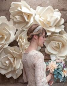 50 Stunning Paper Flower Decoration for Wedding Ideas 50