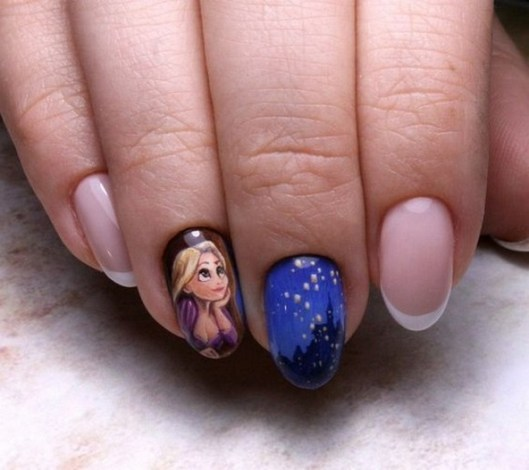 60 Disney Themed Nail Art Ideas 22