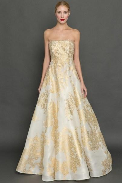 60 Gold Glam Wedding Dresses Inspiration 05