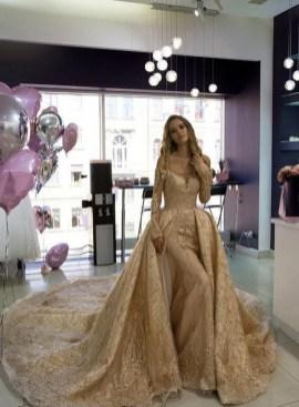60 Gold Glam Wedding Dresses Inspiration 10