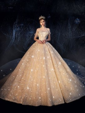 60 Gold Glam Wedding Dresses Inspiration 21