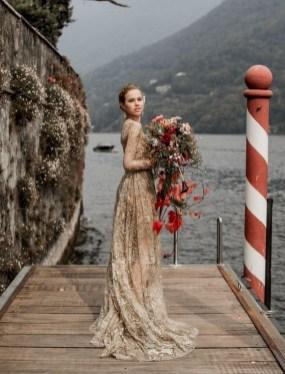60 Gold Glam Wedding Dresses Inspiration 41