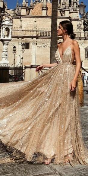 60 Gold Glam Wedding Dresses Inspiration 46