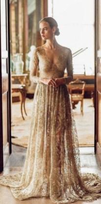 60 Gold Glam Wedding Dresses Inspiration 48
