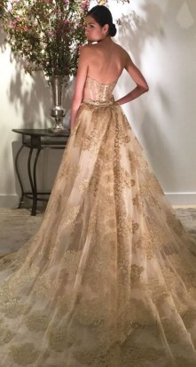 60 Gold Glam Wedding Dresses Inspiration 49