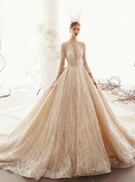 60 Gold Glam Wedding Dresses Inspiration 53