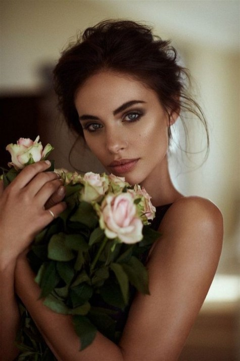 60 Inspiring Natural Bridal Look 46