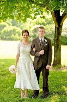 60 Simple Vintage Wedding Dress Ideas 54