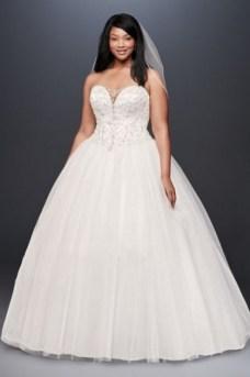 70 Elegant Ball Gown Wedding Dresses For Plus Size 08