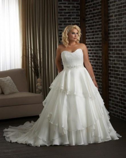 70 Elegant Ball Gown Wedding Dresses For Plus Size 12