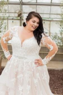 70 Elegant Ball Gown Wedding Dresses For Plus Size 27