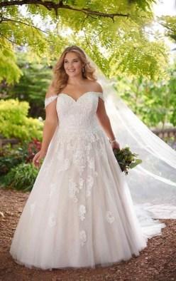 70 Elegant Ball Gown Wedding Dresses For Plus Size 55