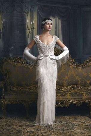 70 Gatsby Glamour Wedding Dresses Ideas 13